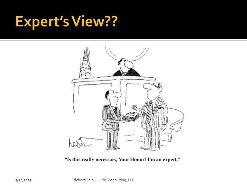 Expert's View 3/24/2015 Richard Fein RIF Consulting, LLC