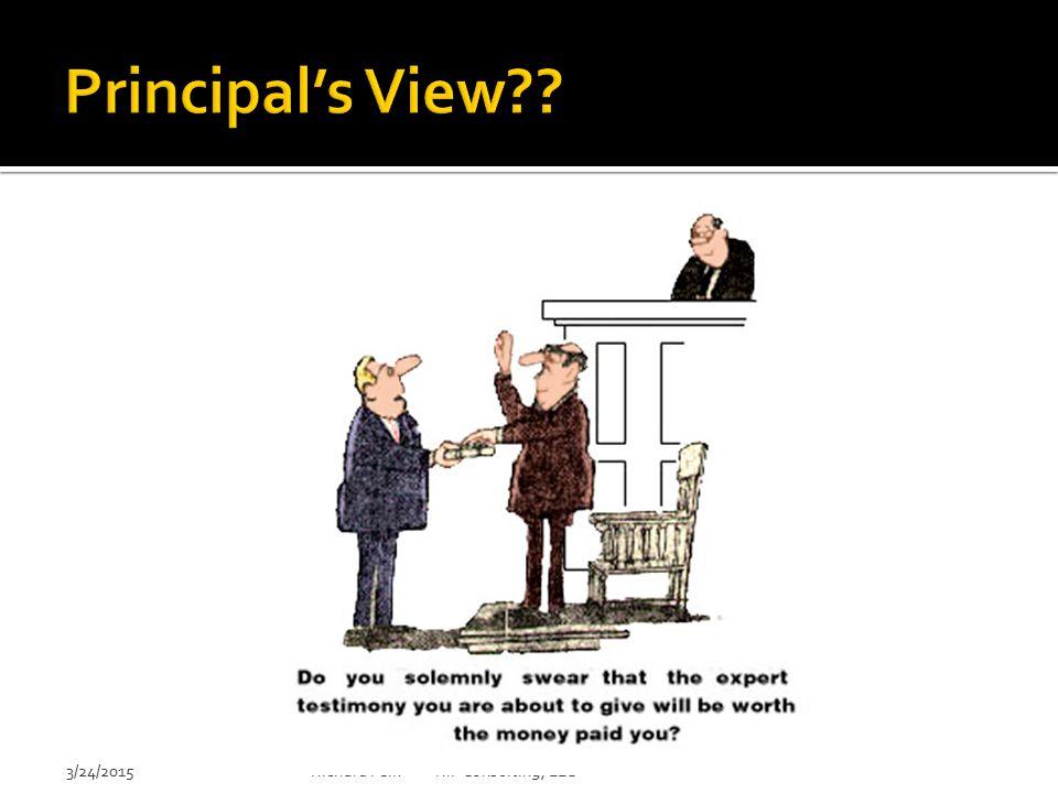 Principal's View 3/24/2015 Richard Fein RIF Consulting, LLC
