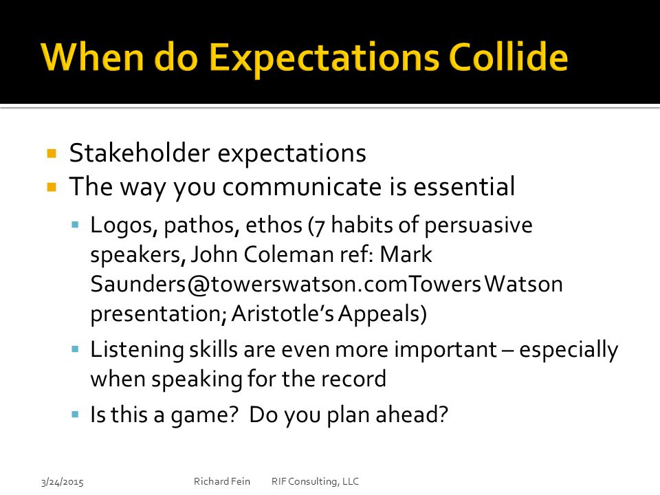 When do Expectations Collide