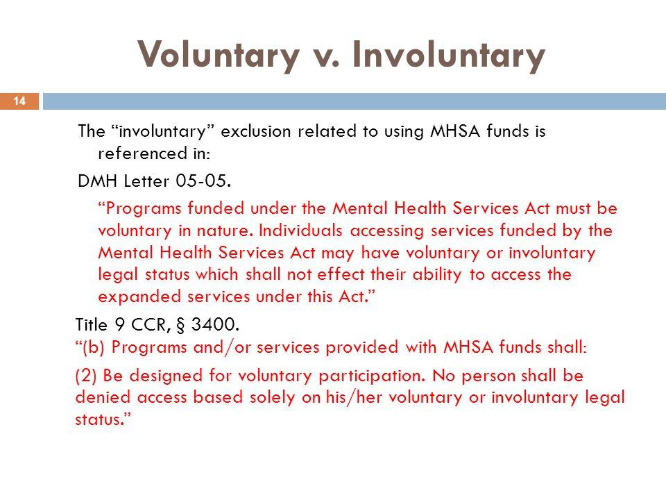 Voluntary v. Involuntary