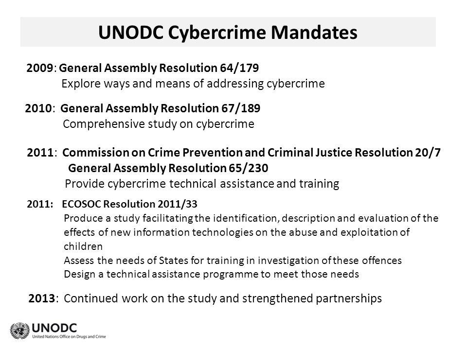 UNODC Cybercrime Mandates