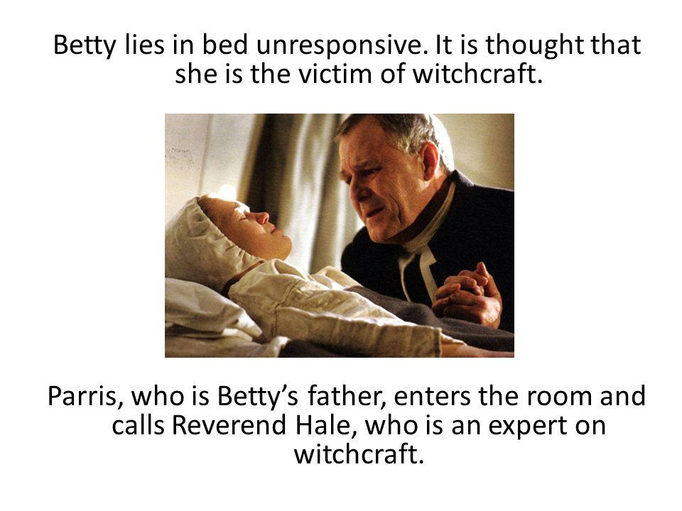Betty lies in bed unresponsive