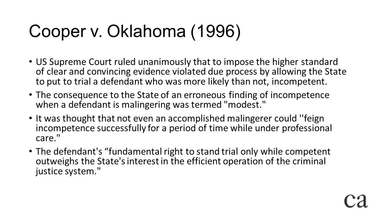 Cooper v. Oklahoma (1996)