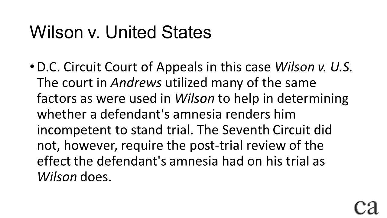 Wilson v. United States