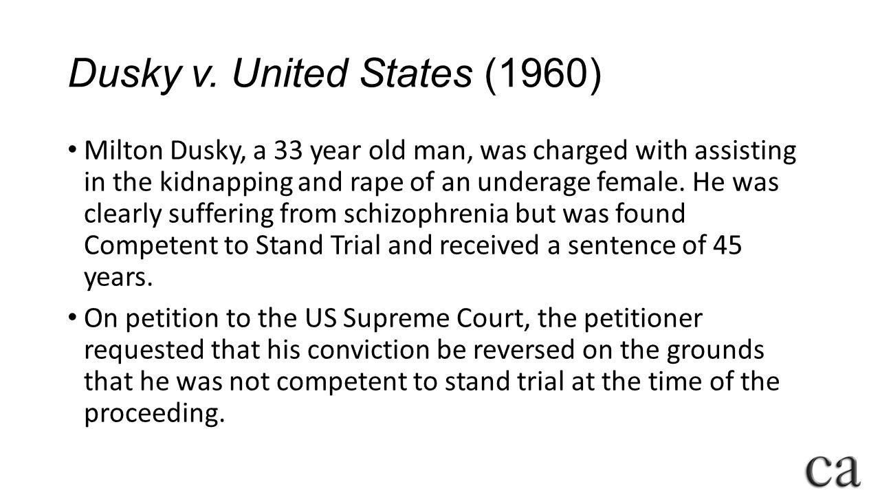 Dusky v. United States (1960)