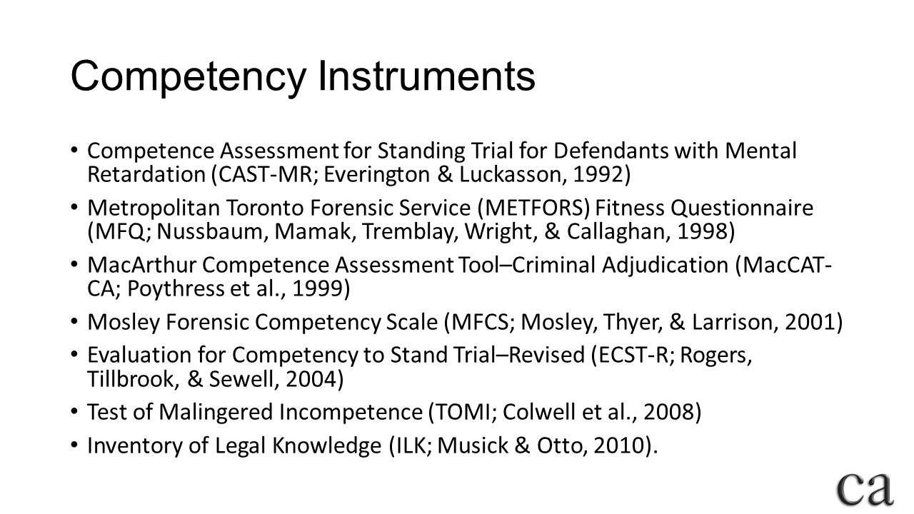 Competency Instruments