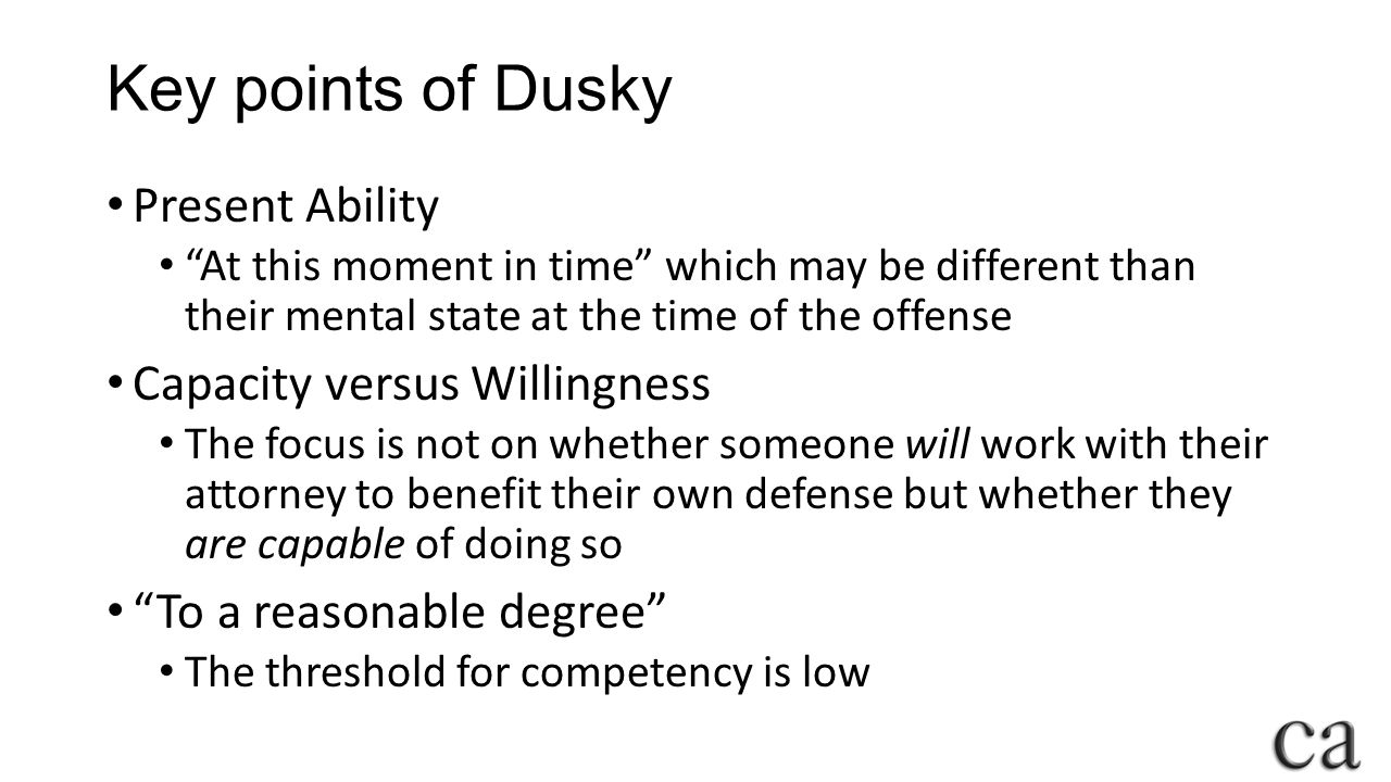 Key points of Dusky Present Ability Capacity versus Willingness