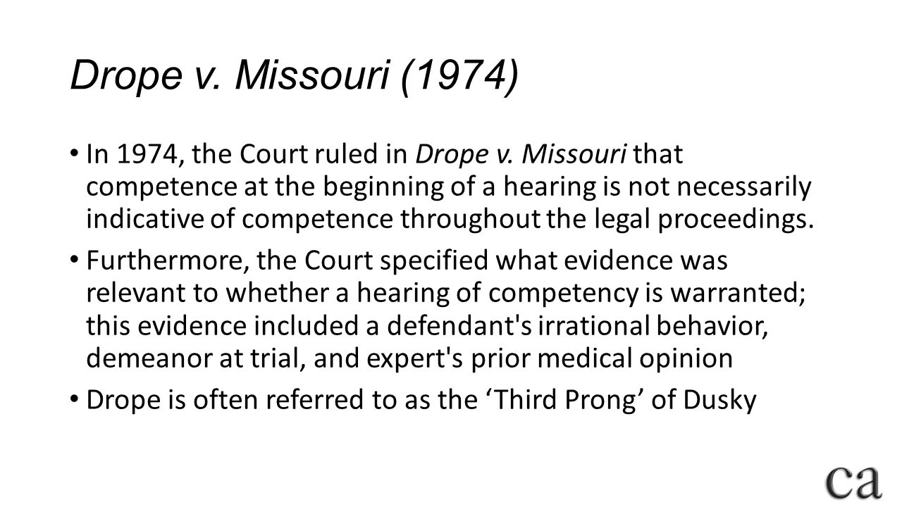 Drope v. Missouri (1974)