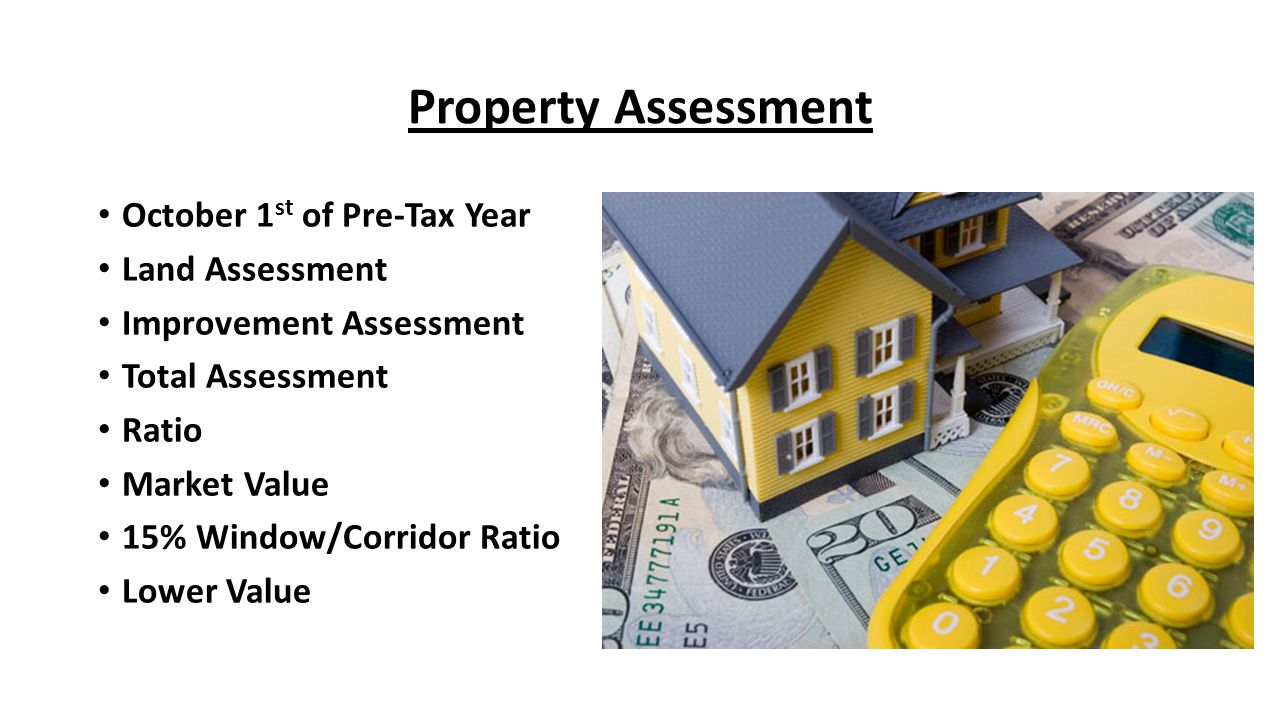 Property Assessment October 1st of Pre-Tax Year Land Assessment