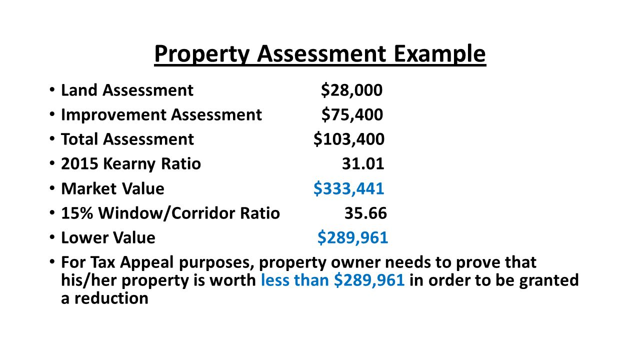 Property Assessment Example