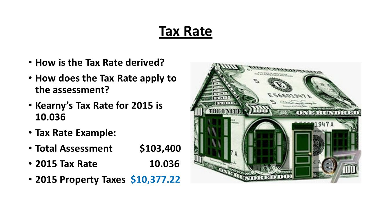 Tax Rate How is the Tax Rate derived