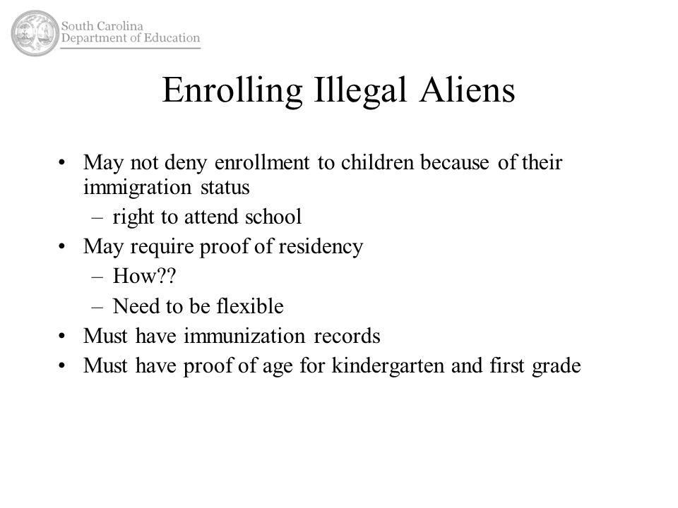 Enrolling Illegal Aliens