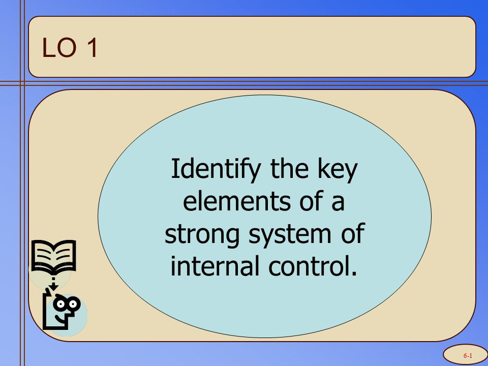 Internal Controls Internal Controls (policies/procedures to provide assurance that enterprise objectives are accomplished)