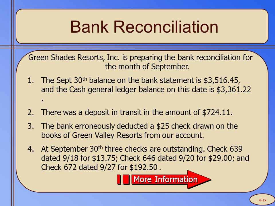 Let's prepare the bank reconciliation