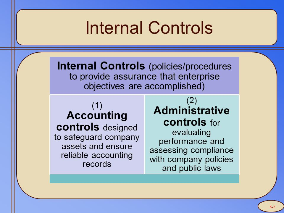 The Nine (9) Features of Internal Control (pg 315-317)
