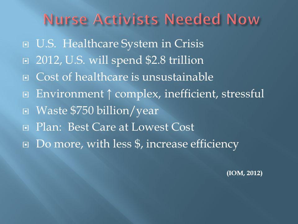 Nurse Activists Needed Now