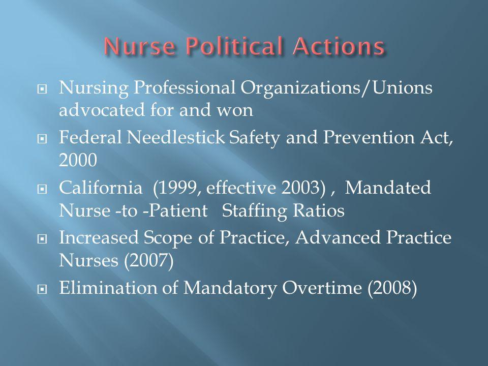Nurse Political Actions