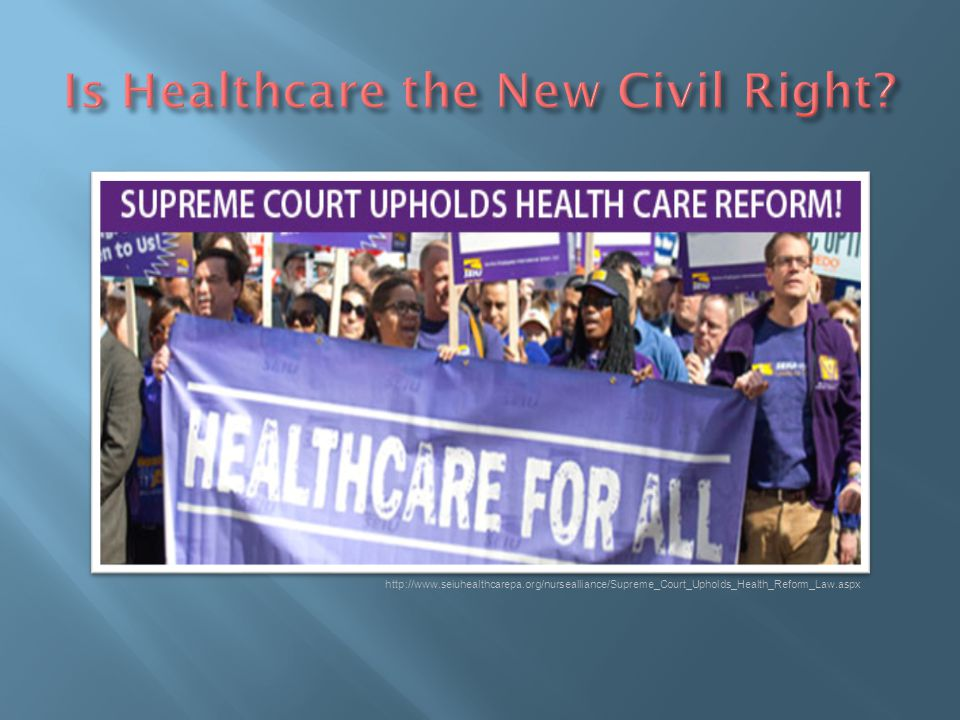 Is Healthcare the New Civil Right