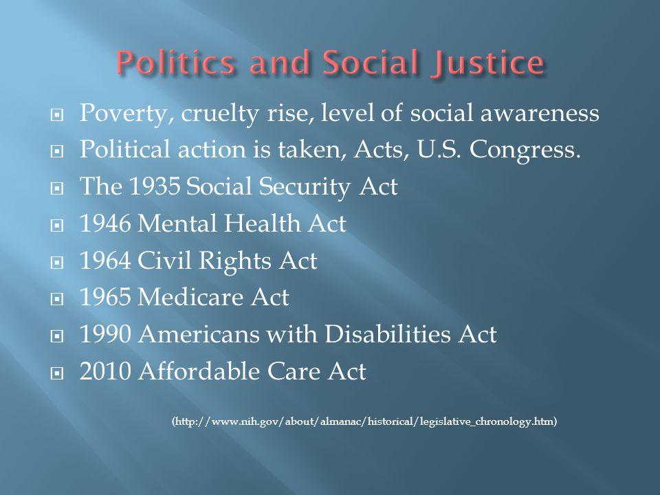 Politics and Social Justice