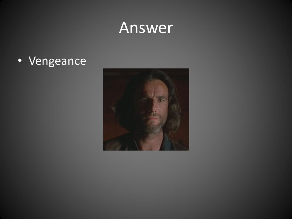 Answer Vengeance