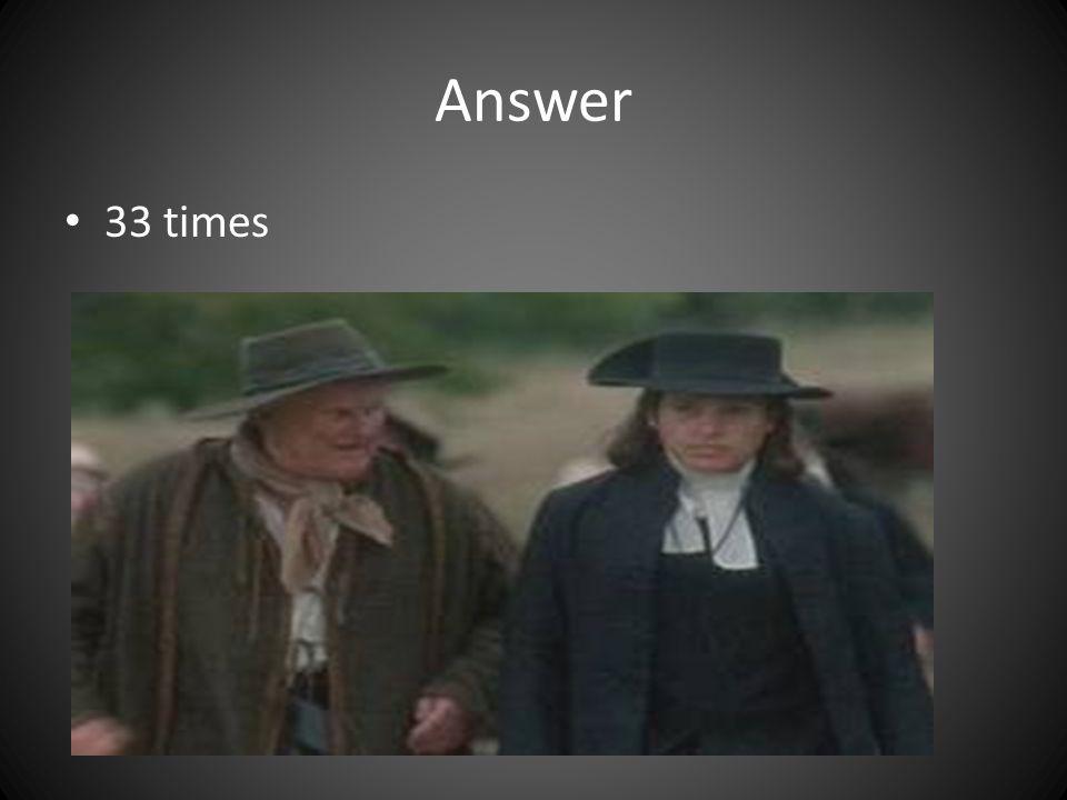 Answer 33 times
