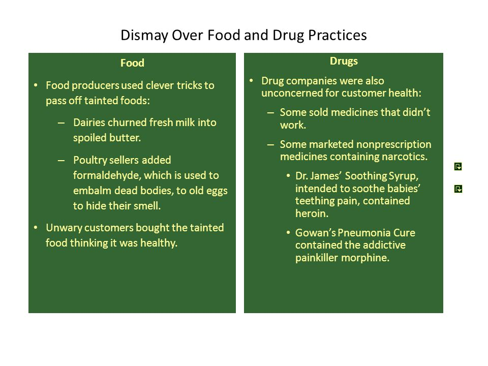 Dismay Over Food and Drug Practices