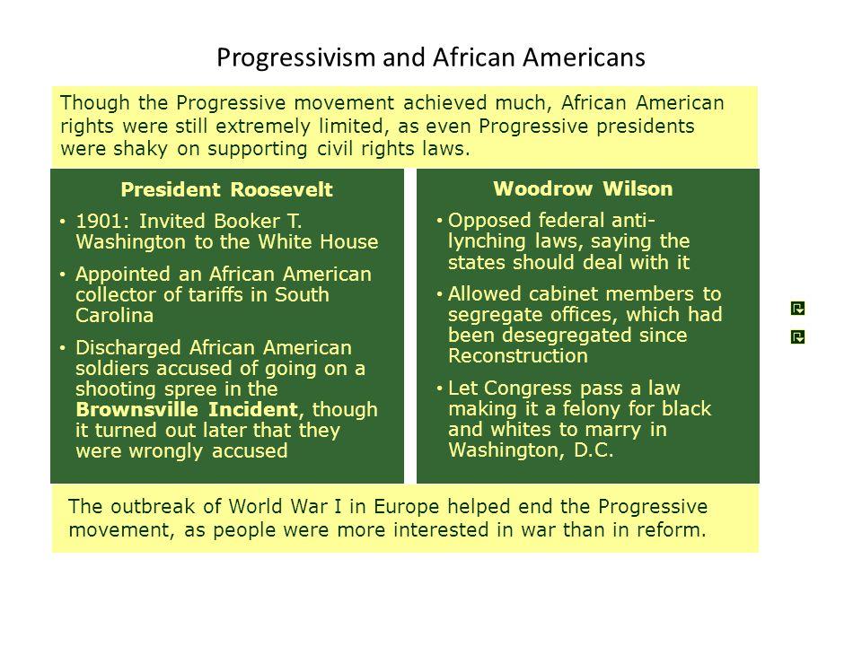 Progressivism and African Americans