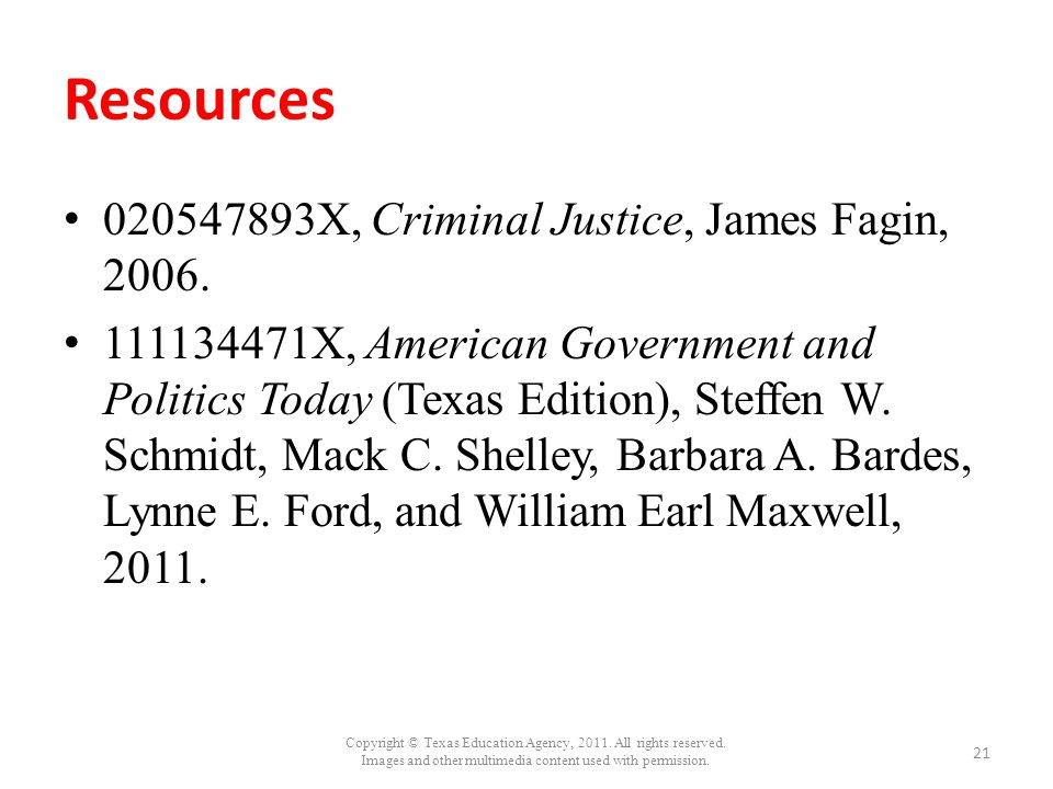 Resources 020547893X, Criminal Justice, James Fagin, 2006.