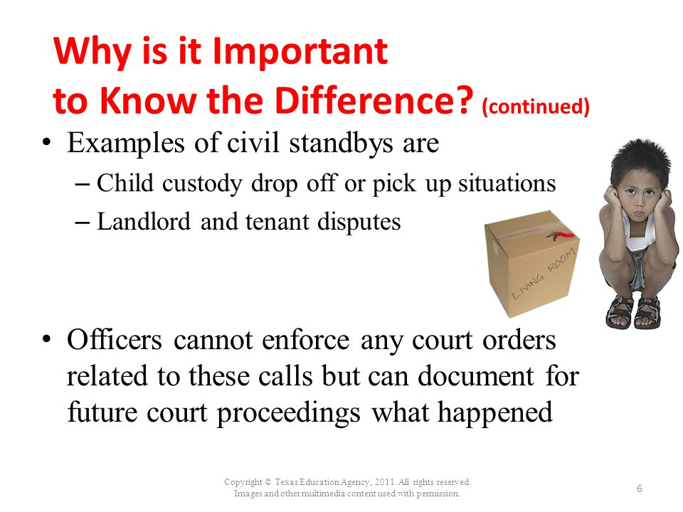Why is it Important to Know the Difference (continued)