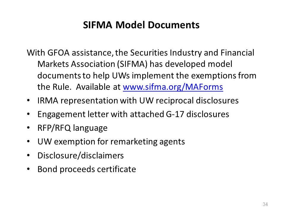 SIFMA Model Documents