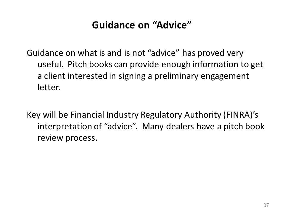 Guidance on Advice