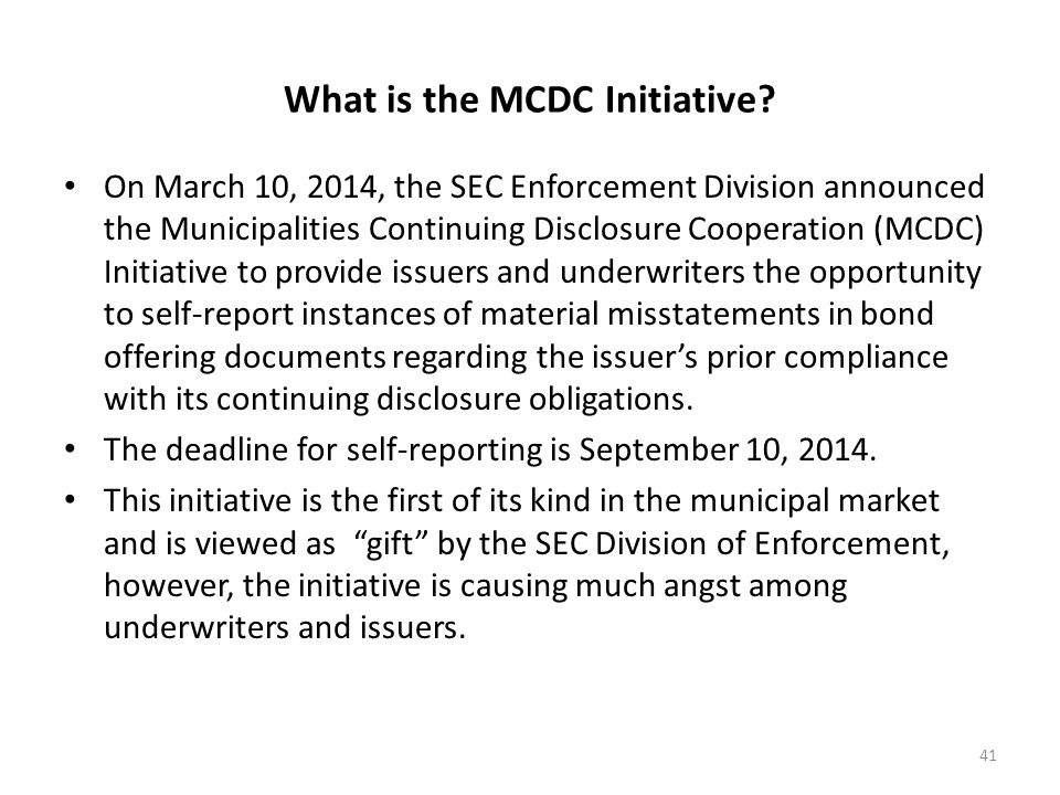 What is the MCDC Initiative