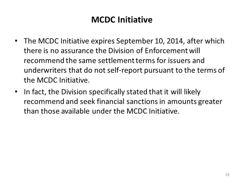 MCDC Initiative