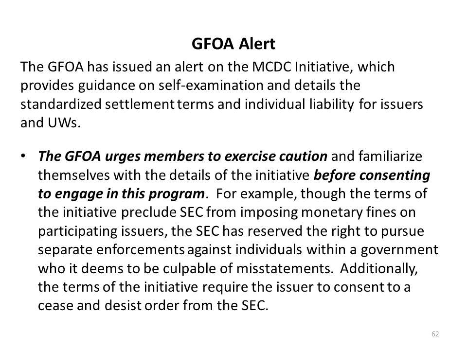 GFOA Alert