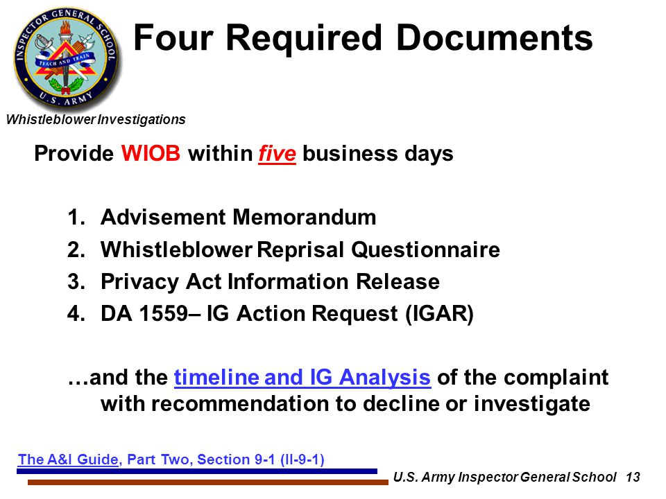 Four Required Documents