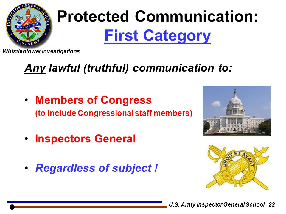 Protected Communication: First Category