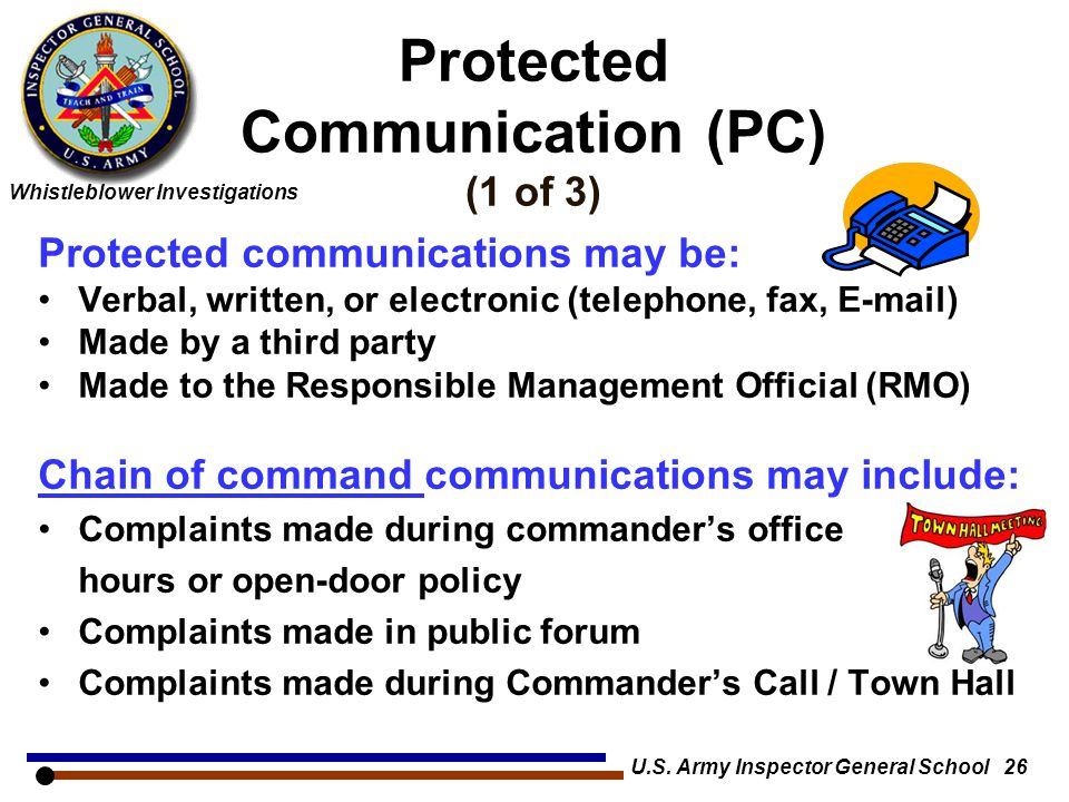Protected Communication (PC) (1 of 3)
