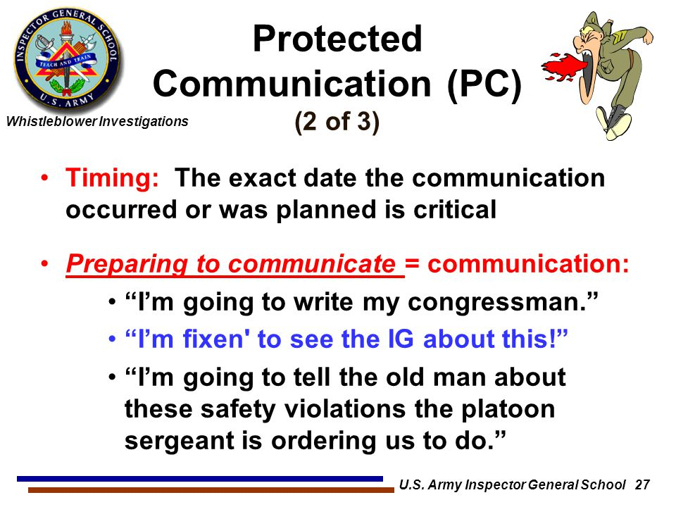 Protected Communication (PC) (2 of 3)