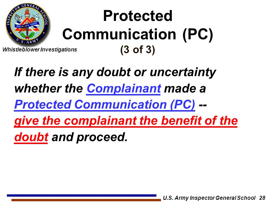 Protected Communication (PC) (3 of 3)