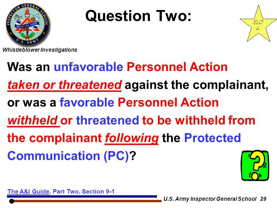U.S. Army Inspector General School 29