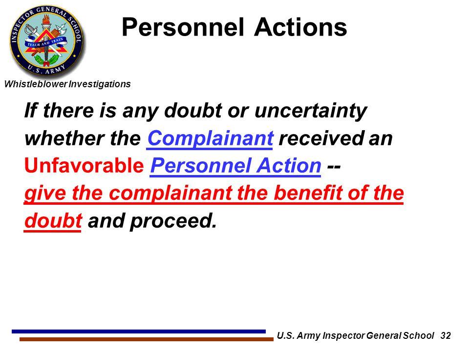 U.S. Army Inspector General School 32