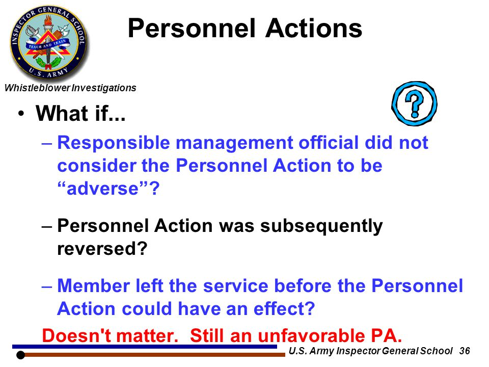 U.S. Army Inspector General School 36