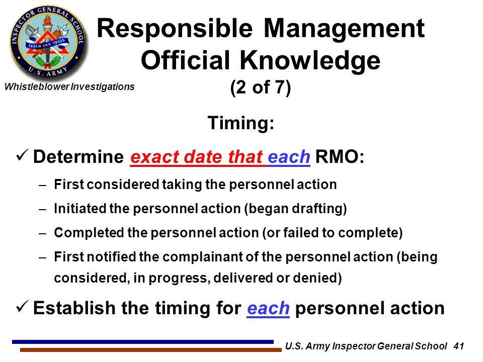 Responsible Management Official Knowledge (2 of 7)