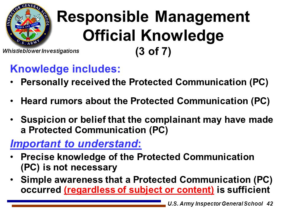 Responsible Management Official Knowledge (3 of 7)