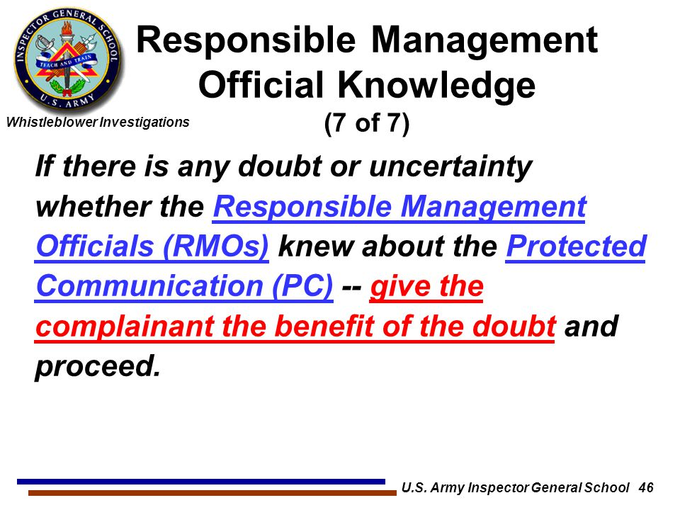 Responsible Management Official Knowledge (7 of 7)