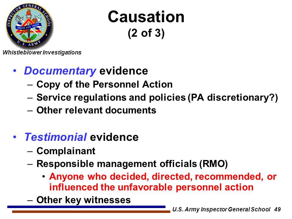 U.S. Army Inspector General School 49
