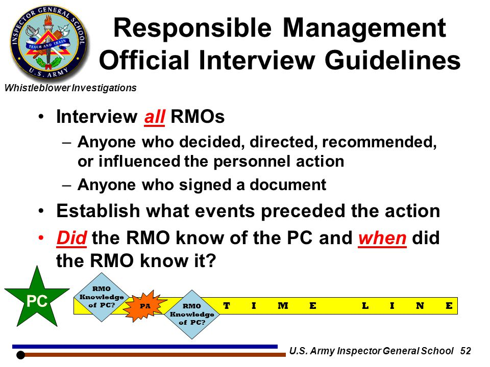 Responsible Management Official Interview Guidelines