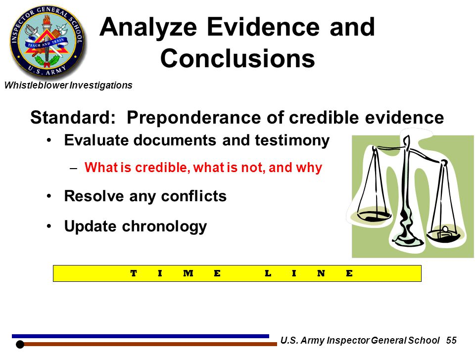 Analyze Evidence and Conclusions