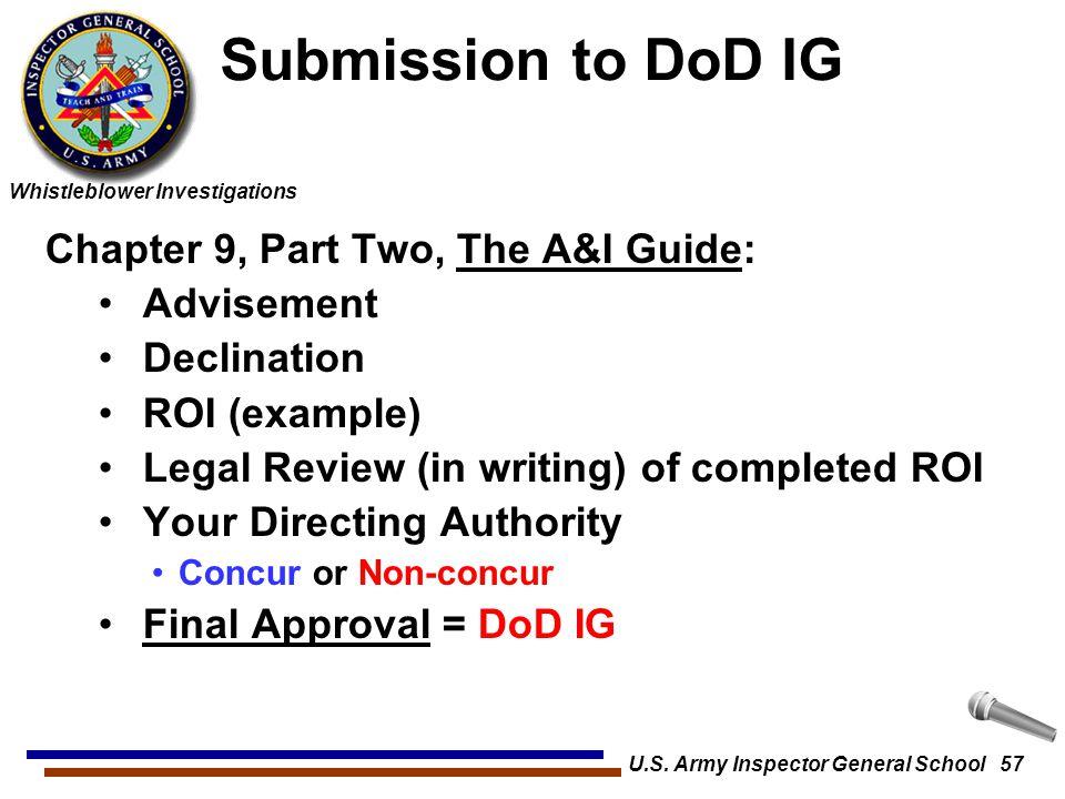 U.S. Army Inspector General School 57