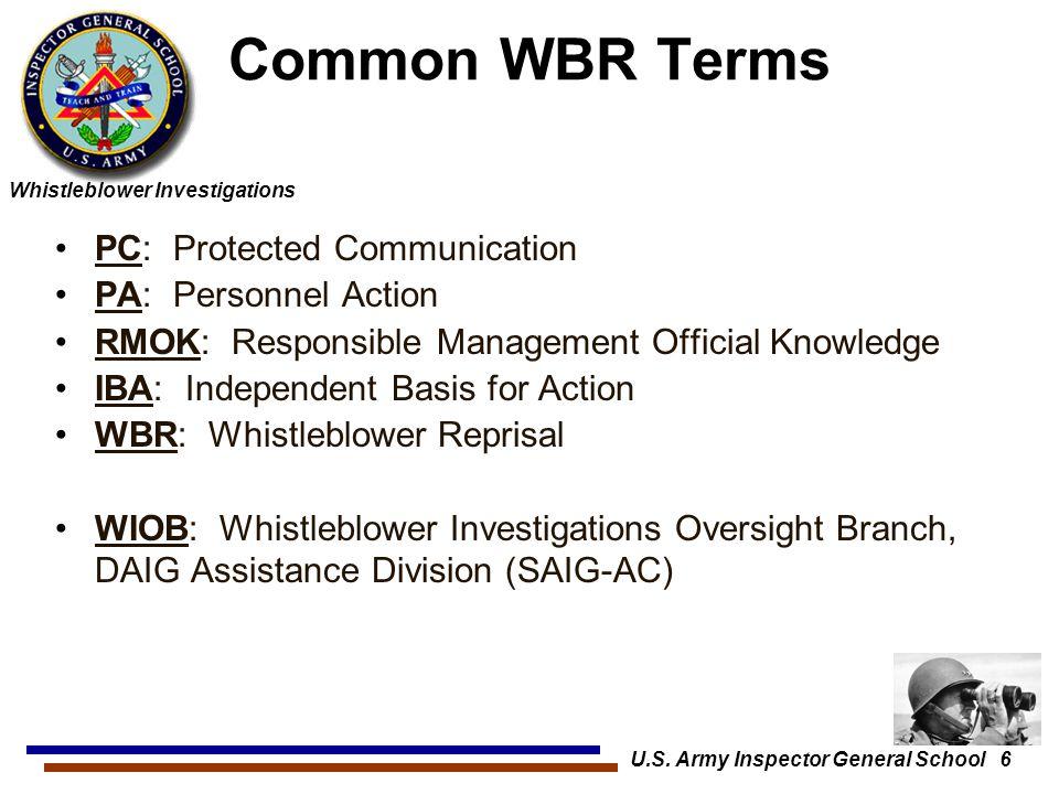 U.S. Army Inspector General School 6